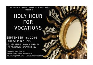 Holy Hour for Vocations Poster
